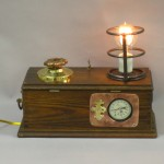 steampunk lamp, dimmer, charger