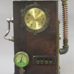 steampunk clock time machine