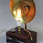 Steampunk lamps and players