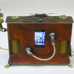 steampunk boom box for ipod or iphone