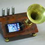 steampunk gramophone for ipod or iphone