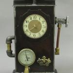 steampunk time machine clock
